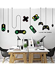 Game Wall Stickers,Gaming Controller Joystick Playroom Wall Decals for Bedroom Living Room Decor Removable Art Mural for Boys Kids Men