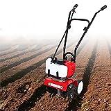 Garden Tiller Cultivator 52cc 2HP 2 Stroke Gasoline Tiller Cultivator Rotary Hoe Rototiller Garden...