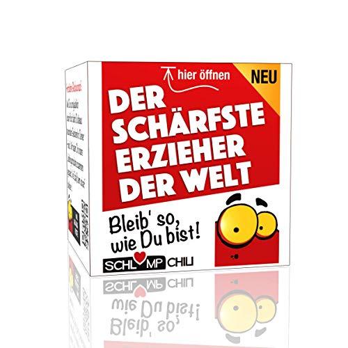 Schlump-Chili⎥Erzieher Geschenk Set⎥Der schärfste Erzieher der Welt - ein witziges Präsent für Männer (1 Stk.)