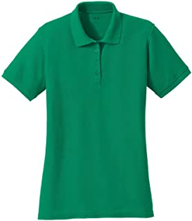 Joe's USA Ladies Polo's 6.5-Ounce, Double Pique Knit Cotton/Poly Polos in Adult Sizes: XS-4XL