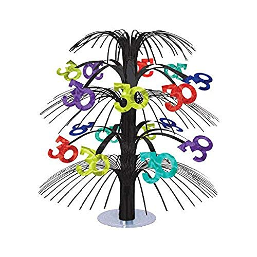 30th Birthday Cascade Centrepiece. An eye-catching, cascading foil centrepiece that will instantly add life to any table.
