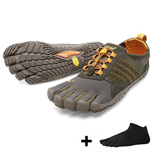 Vibram FiveFingers Trek Ascent Men + Zehensocke, Size:42;Color:Dark/Green/Pumpkin