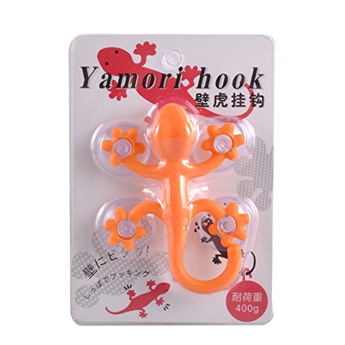 eZAKKA Suction Cup Hooks Multicolor Small Gecko Power Lock Suction Cup Hook Decoration for Bathroom Kitchen,Pack of 4 Photo #8