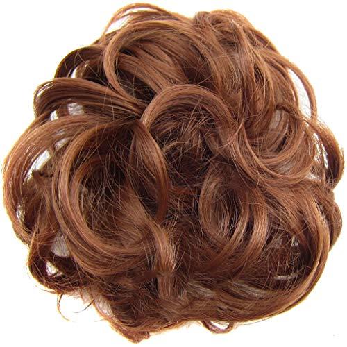 Haargummis für Damen Pferdeschwanz Serria® natürliches lockiges gewelltes Haarteil für Damen, Haaraccesoire für Pferdeschwanz D M