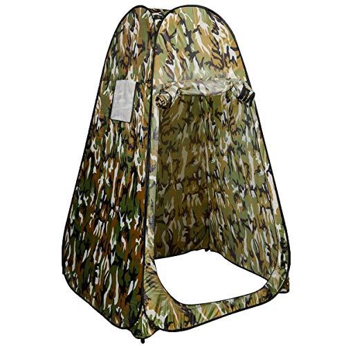 Costway Tente Instantanée de Douche Pop Up Toilette Portable pour Camping, Vestiaire Pièce Unique 120 x 120 x 190 cm (Camouflage)