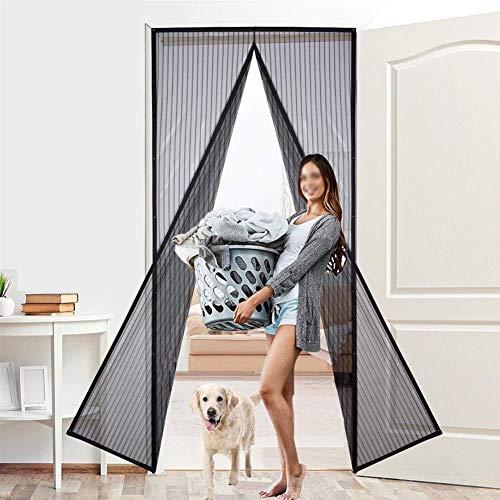 Cortina Mosquitera Doble Magnetica Puerta Exterior, Mosquitera Puerta Corredera Lateral Con Iman Para Terraza/Habitacion Fácil De Instalar,100 * 210cm