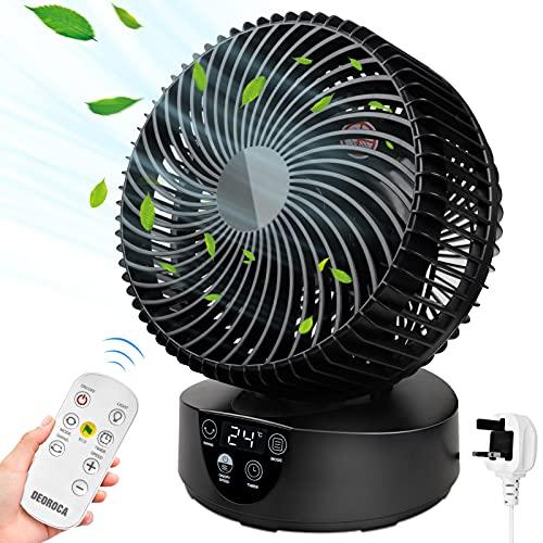 Desk Fan AC Fan Standing Fan Desktop Remote Control Floor Fan Oscillating...