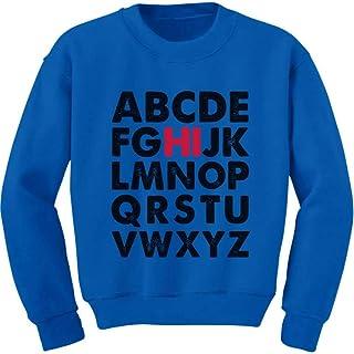 Tstars Hi in Alphabet Back to School Cute Youth Kids Sweatshirt