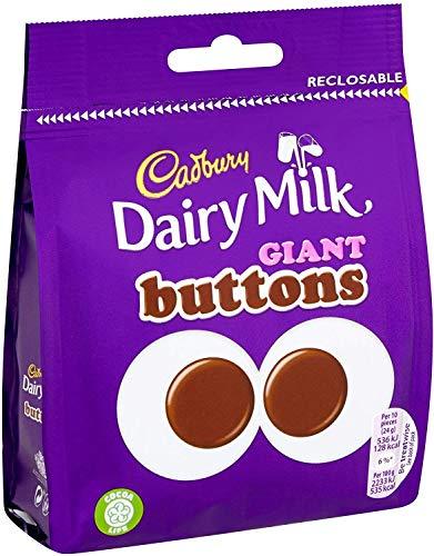 Cadbury Dairy Milk Giant Buttons Chocolate Bag 119g Case of 10