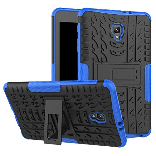 Tab A 8.0 T380 Case DWaybox Rugged Heavy Duty Hard Back Case Cover with Kickstand for Samsung Galaxy Tab A 8.0 2017 SM-T380/T385 / Samsung Tab A2 S 2017 (Blue)