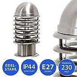 Aussenleuchte Sockelleuchte Pfostenleuchte Pfeilerleuchte Aussenlampe Standleuchte Edelstahl 252-300 Wegeleuchte Gartenlampe