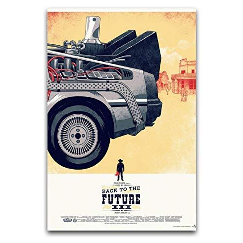 LANMPU - Poster decorativo da parete 'Back to the Future', 30 x 45 cm