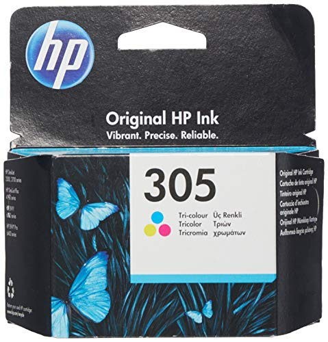 HP 305 3YM60AE Tintenpatrone, dreifarbig, kompatibel mit HP DeskJet 2700, 2730, 4100, 4134, Envy Serie 6020, 6030, 6420, 6430