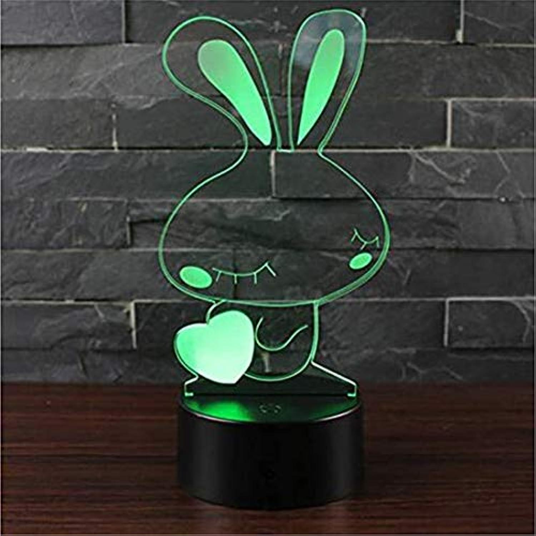 Led- leuchten Edison Lights Niedlichen Kaninchen Tier Nachtlicht Kinder Weihnachtsdekoration Leuchtende Nette 3D Led Acryl Tischlampe