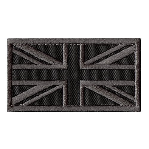 2AFTER1 ACU Great Britain UK Union Jack Flag Subdued Morale Tactical Badge Army Embroidery Hook&Loop Patch