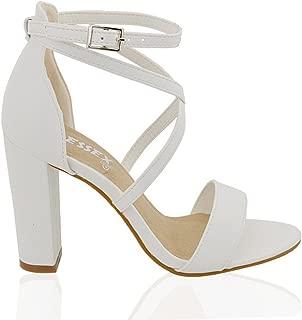 Best white chunky peep toe heels Reviews