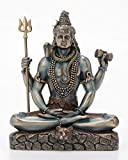 "Veronese Design Lord Shiva in Lotus Pose Statue Sculpture - Hindu God and Destroyer of Evil Figure 6.2"" Tall"