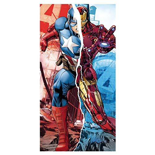 Kids Euroswan Toalla con Diseño Avengers, Algodón, Azul, 0