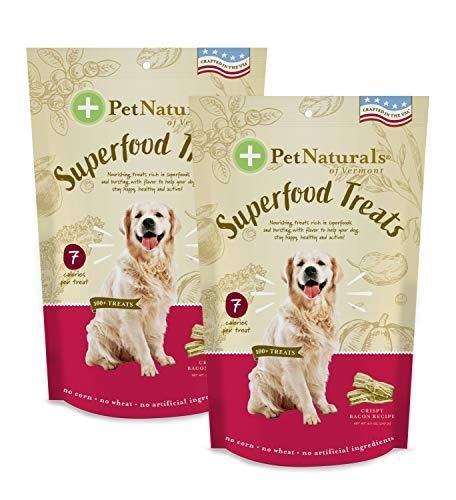 Pet Naturals of Vermont – Superfood Treats para perros – Healthy Daily Treats en 3 Sabores Saludables, Naturalmente Deliciosos Tratamientos, Hecho con Ingredientes Naturales y Orgánicos (Crispy Bacon Receta, 2 unidades)
