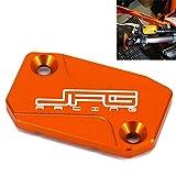 Serbatoio del freno anteriore del motociclo Tappo del coperchio del fluido per K-T-M 125 144 150 200 250 300 350 400 450 500 525 530 SX SXF EXC XCF XC XCW XCF-W EXC-F SXR EXC-R SMR 05-16 Arancione