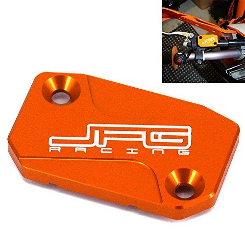 Serbatoio del freno anteriore del motociclo Tappo del coperchio del fluido per K-T-M 125 144 150 200 250 300 350 400 450 500 525 530 SX SXF EXC XCF XC XCW XCF-W EXC-F SXR EXC-R SMR 05-16 Arancio