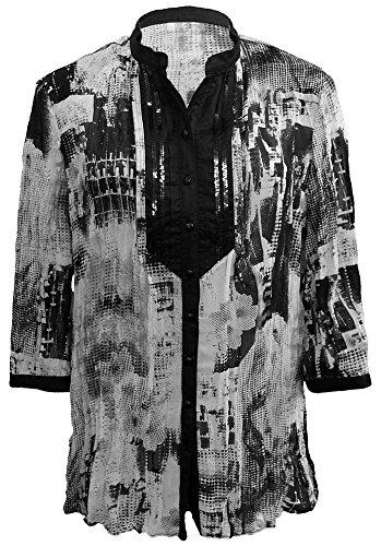 GELCO - Bluse, schwarz-grau