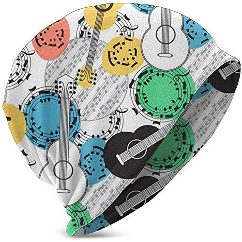 Speciale winkel klassieke akoestische gitaar winter beanie sjaal voor jongens meisjes hoeden cirkel sjaal Slouchy Skull Cap