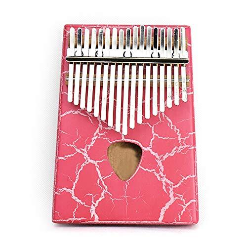 QuRRong Duim Piano 17 Sleutels Mahonie Duim Piano Ice Crack Volledige Veneer Mbira Met Tune Hamer Draagtas Veeg Doek Afrikaanse Houten Duim Piano