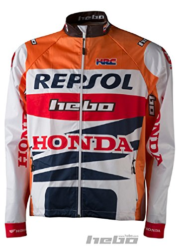 HEBO HE4247TXL Wind Pro Montesa Team Chaqueta, Naranja, Talla XL
