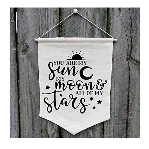 You Are My Sun My Moon & All My Stars Wall Banner - Customize WB411