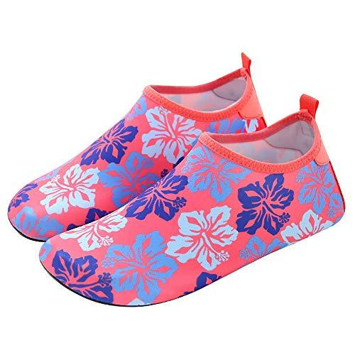 Zapatos de Playa Transpirables Adulto agua al aire libre del salto Zapatos Natación Surf Remo antideslizante de secado rápido de los zapatos de aguas arriba se puede plegar fácilmente Deportes Descalz