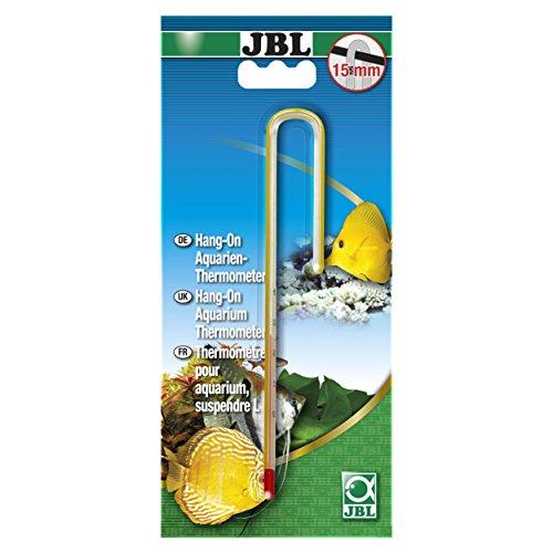 JBL 61213 Präzisionsthermometer zum Anhängen für 15 mm Aquarienscheiben Hang-on Aquarien-Thermometer L