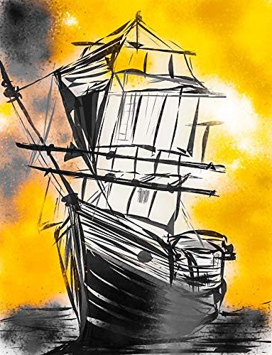 SHSWorks Feng Shui Vastu Ship Wall Art Canvas Painting...
