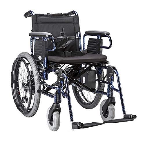 DONG Tragbarer Premium Power Rollstuhl, mit Li-Ionen-Akku 20Ah Dual-Motor Elektro-Rollstuhl, Unterstützung 330lb