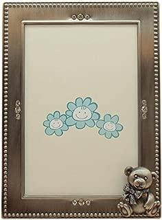 Fei Gifts Teddy Bear Frame, 4 by 6-Inch, Blue