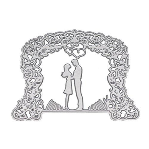 Healifty Plantillas de Troqueles de Corte de boda Novia Novio Troqueles de Corte para DIY Scrapbooking Álbum de Bodas Arte de Papel