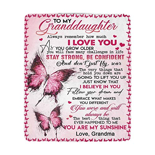 Details about  /TO MY AMAZING GRANDDAUGHTER Quilt Fleece blanket Printing in US