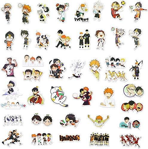 WayOuter 100 STK Anime Haikyuu Stickers Wasserdicht Vinyl Aufkleber für Laptop, MacBook, Gepäck, Skateboard