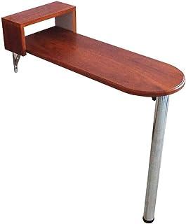 Tables HAIZHEN Pliable de Bar Pliante, Haute Murale, de Salle à Manger, de Bar Brun rougeâtre et Blanc Stations de Travail...