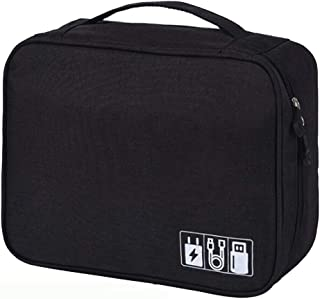 BYOYO Carrying Bag Case Storage Organizer for Projectors and Accessories (Black, Single)
