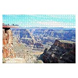 BRookttye 1000 Pieces Jigsaw Puzzles Grand Canyon Skywalk, Fun Family Activity Game Gift Educational for Adults Teens-DIY Interactive Toys 29.52''x19.69''