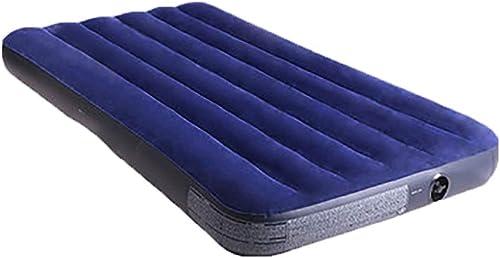 Sac de couchage Flocked Air Bed, Matelas pneumatique for Camping, avec Pompe électrique Portable et Rechargeable, Confort for Une Utilisation en intérieur et en extérieur, 191 x 99 x 22 centimètres -