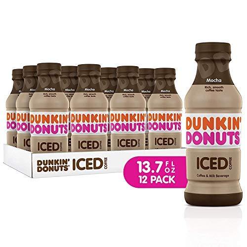 Dunkin Donuts Iced Coffee Mocha 137 Fluid Ounce  PACK OF 24