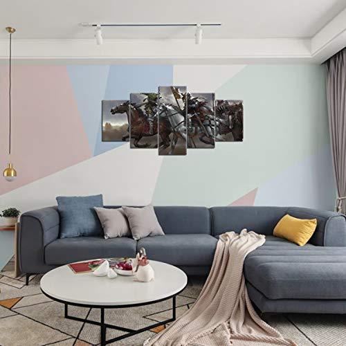 HSIWMKsba Kingdom Come Deliverance Band of Bastards Gioco Canvas Wall Art Pictures 5 Pezzi Decorazione dell'hotel 150x80cm Senza Cornice