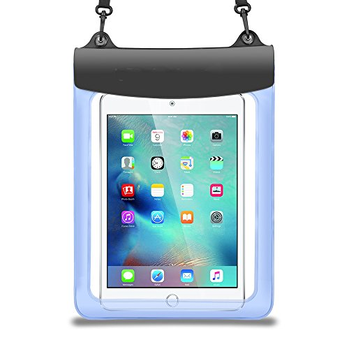 Universal 9.7-11 inch Tablet Waterproof Case Dry Bag Pouch Fit for iPad 9.7 2018, iPad Pro 10.5, iPad Pro 11, Samsung Galaxy Microsoft Surface Lenovo Asus Dragon Touch Acer Simbans LG Chiwu (Blue)