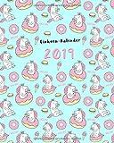 Einhornkalender 2019 Unicorn: Mega tolle Einhorn Kalender für alle Deine Notizen, Aufgaben & Termine, Modisches Einhorn-Pattern Design rosa, Jan - Dez 2019 (mit lustigen Einhorn-Sprüchen, Band 1)