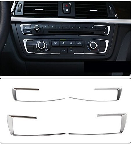 etopmia Matt Chrome Dashboard Console Cover Trim fit BMW 3 4 Series F30 F32 F34 320 420 2013 2014