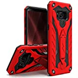 Zizo Static Series Compatible with Samsung Galaxy S8 Plus Case Military Grade Drop Tested with Built in Kickstand RED Black