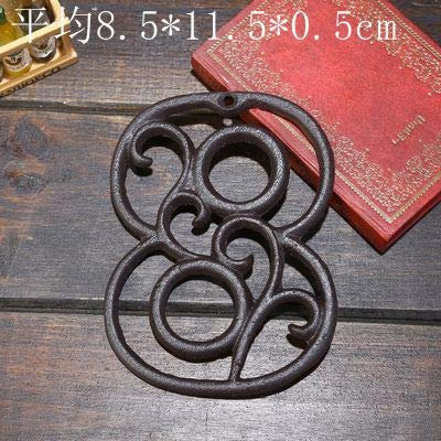 GLX Tür Zeichen- 0-9 Cast Iron House-Tür Nummernschild-Hausgarten-Wand-Dekoration Haus Retro Hausnummer Adresse Platte Haus Zahl Plaketten Aus Holz,8