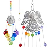H&D HYALINE & DORA Crystal Glass Suncatcher Chakra Colors Ball Prism Angel Window Hanging Ornament Rainbow Suncatcher